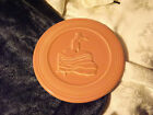 FIESTAWARE TRIVET RETIRED ROSE COLORED with DANCING LADY FIESTA   A12