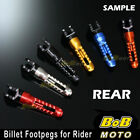 For Suzuki SV 650 / S 99 00 01 02 03 04 05 06 BoB 6 COLOR CNC Rear Foot pegs