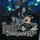 Disney Disneyland 60th Diamond Anniversary Jeweled Minnie Castle Pin New