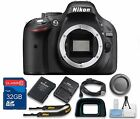 Nikon D5200 DSLR Camera Body + 32GB Memory Card + Cleaning Kit