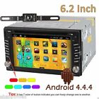 Android 4.4 Double 2 Din Car Stereo GPS DVD Player 6.2'' Bluetooth Radio 3G WiFi