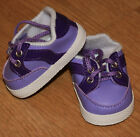 New Lavender Vinyl Sneakers Fit American Girl Bitty Baby  Similar sized Dolls
