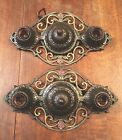Two 1930's Antique Virden Flush Mount Lights Wired Pair Great!!!!!