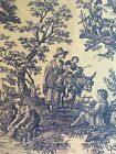 Waverly Toile Country Life Blue on Ivory Home Decor Fabric 6 Yards