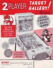 Midway TARGET GALLERY 1962 NOS  Baseball Pinball Machine Promo Sales Flyer Adv.