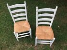 Cane bottom chairs, set of two