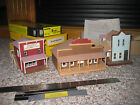 Vintage Suydam HO Train Model Railroad 3 Finished Buildings Old Town + Kit +++