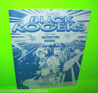 BUCK ROGERS By Gottlieb 1979 ORIGINAL Flipper Pinball Machine INSTRUCTION MANUAL