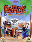POPEYE By BALLY 1993 ORIGINAL NOS FOLD-OUT PINBALL MACHINE SALES FLYER BROCHURE
