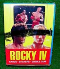 VINTAGE 1985 TOPPS ROCKY IV 4 TRADING CARDS BOX 36 SEALED PACKS STALLONE RARE