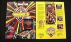 Dr Who Bally Pinball Flyer Mint / Original Brochure
