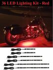 6pc LED Engine Neon Glow Lights Kit Can-Am Spyder F3 RS RT ST Motorcycles - RED