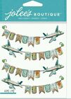 Jolees Boutique Dimensional Stickers MY TRIP repeat vacation airplane travel
