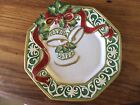 Fitz & Floyd Decorative Holiday Porcelain Plate 'Christmas Bells' ~ 2004