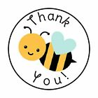 48 THANK YOU BUMBLE BEE ENVELOPE SEALS LABELS STICKERS 12 ROUND
