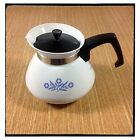 CORNING WARE Corelle BLUE CORNFLOWER 6-CUP TEAPOT Tea Pot w/ Black Lid  **XLNT**