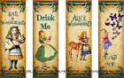 8 ALICE IN WONDERLAND BOOKMARK HANG GIFT TAGS FOR SCRAPBOOK PAGES 47