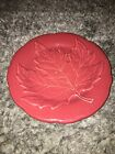 Longaberger Pottery Retired 2002 Falling Leaves Paprika Red 6 3/4