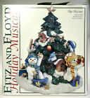 Fitz Floyd The Flurries Holiday Music Box Wish You A Merry Christmas Snowman MIB