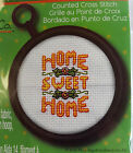 Mary Engelbreit Cross Stitch Kit Home Sweet Home Mini with Hoop Frame