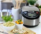 5.5 Cup Rice Cooker Warmer Steamer Non Stick Inner Pot LCD Display Slow Cooker