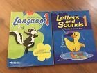 A Beka Language 1 and Letters and Sounds 1 1st grade Work books