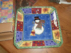 Sango Sweet Shoppe Christmas Square Candy Dish #0996-97 by Sue Zipkin