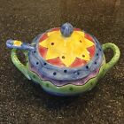 Sango Sue Zipkin Tureen Lid Ladle Sweet Shoppe Floral Serving Stoneware 3 Pc New