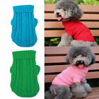 Dog Pet Winter Clothe Warm Sweater Knitwear Puppy Outwear Apparel 6Color 7Size
