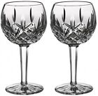 Waterford Classic Lismore Balloon Wine Glass,Set  2 Tumblers Drinking Red/White