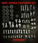 PLASTICS & BODY BOLT KIT HONDA CRF450R CRF250R CRF150R 90pc