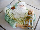 FITZ & FLOYD HANDCRAFTED GREGORIAN OLD WORLD SANTA CLAUS CHRISTMAS CANAPE PLATE