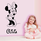 PERSONALISED MINNIE MOUSE WALL STICKERS KIDS WALL ART DECALS BEDROOM