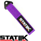 RACING TOW TOWING STRAP STATIIK RATED AT 10000 LBS FOR CAR TRUCK SUV PURPLE S4