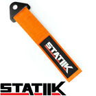 RACING TOW TOWING STRAP STATIIK RATED AT 10000 LBS FOR CAR TRUCK SUV ORANGE S4