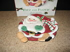 Fitz and floyd Plaid christmas 1063/125 Santa Canape Cookie Plate In Box GUC