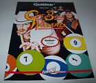 CUE BALL WIZARD 1992 GERMAN EDITION GOTTLIEB NOS PINBALL MACHINE FLYER BROCHURE