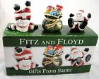 Fitz & Floyd Christmas Gifts From Santa Tumblers Figurines with Box NEW