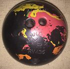 Vintage Manhattan Rubber Bowling Ball Swirled Colors Atomic RV435 15-16 Pounds