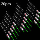 20pcs Military 532nm Green Laser Pointer Pen 1mW Visible Beam Light AAA Lazer US