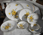 SANGO COTILLION YELLOW ROSE DINNERWARE LOT 29 P DINNER SALAD PLATE SOUP CUP BOWL