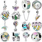 NEW S925 Murano Glass sterling European silver charms bead For bracelet chain US