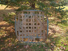 Antique Primitive Handmade Kentucky Tobacco Basket Old Blue Paint 40 x 40 x 5