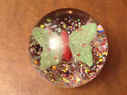 Multicolored Paperweight with Butterfly