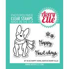Avery Elle Clear Photopolymer Stamps Happy Howlidays Christmas Dog Puppy