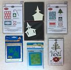 Sizzix Lot of NEW Dies  Embossing Folders Candy Cane Church Christmas Trees