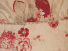 WAVERLY NORFOLK ROSE RUFFLED QUEEN SIZE FLAT SHEET