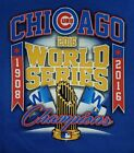 CHICAGO CUBS 2016 WORLD SERIES CHAMPIONS BLUE T-SHIRT
