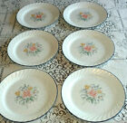 Correlle Plates PROMISE Swirl Pink Blue Yellow Floral 6 Dinner Plates Disc.