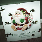 NIB Fitz and Floyd Plaid Christmas Santa Canape Plate Plaque